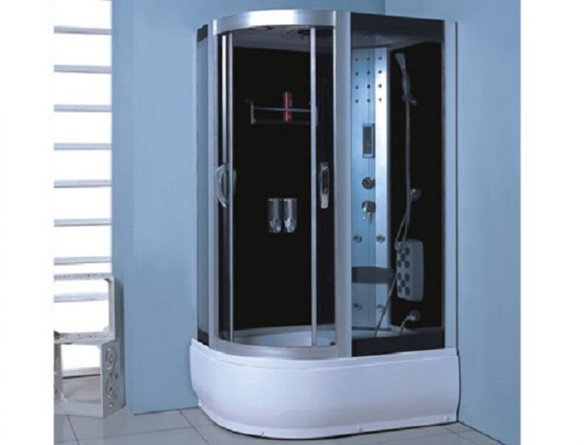 cabine de douche compl te sanifun lobo 120 x 85. Black Bedroom Furniture Sets. Home Design Ideas