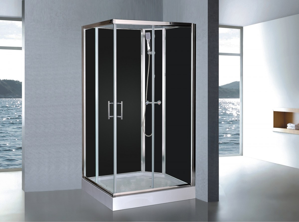 cabine de douche compl te sanifun delfina 120 x 90. Black Bedroom Furniture Sets. Home Design Ideas