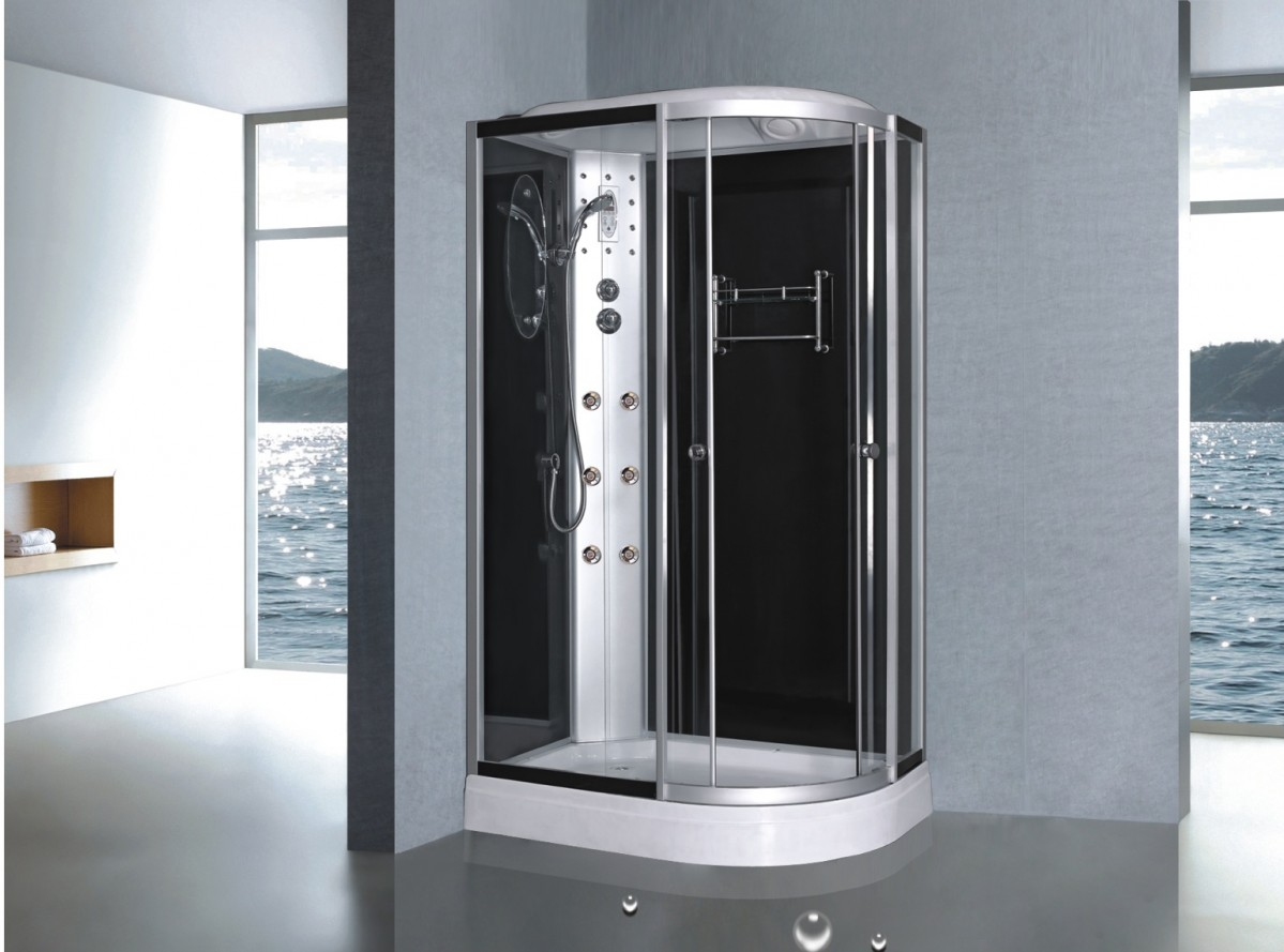 cabine de douche compl te sanifun lucillo 120 x 80 commander avec la garantie du meilleur prix. Black Bedroom Furniture Sets. Home Design Ideas