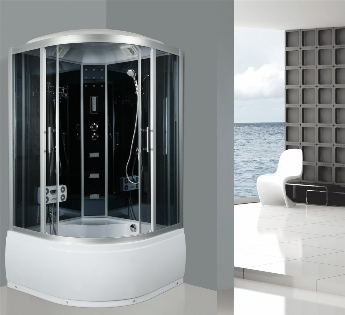cabine de douche compl te sanifun olympia 110 x 110. Black Bedroom Furniture Sets. Home Design Ideas