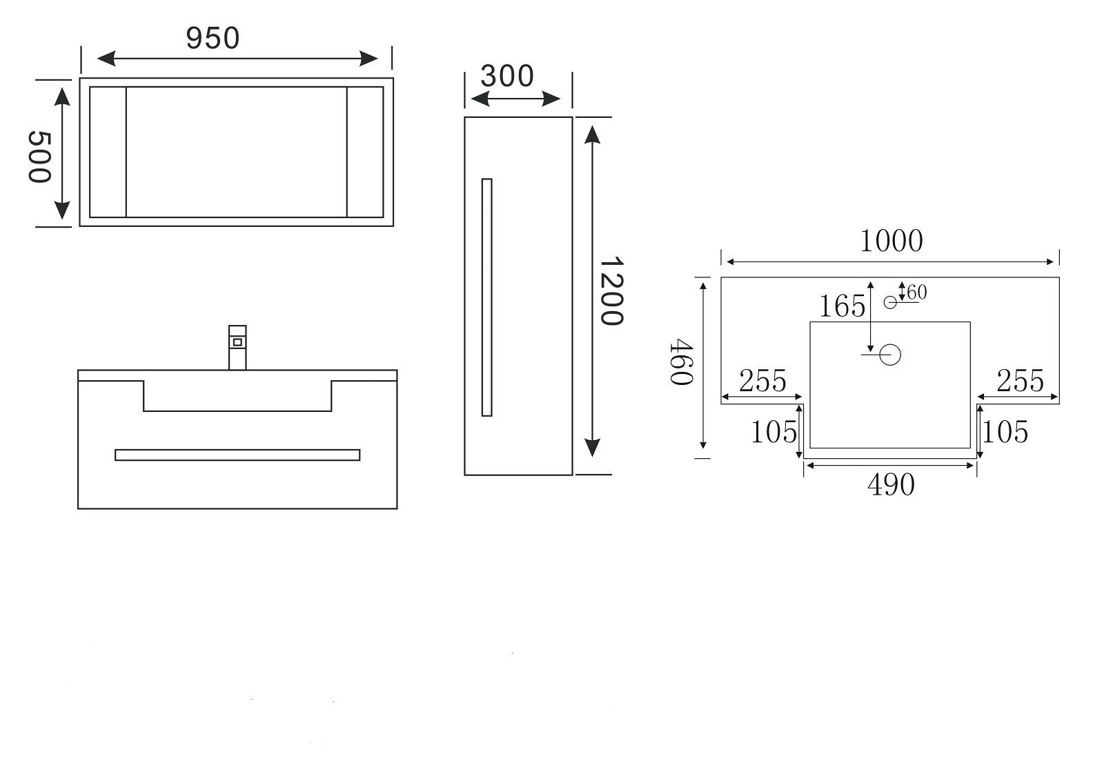 Meuble de salle de bains sanifun magdalena 100 ebay for Vendeur de salle de bain