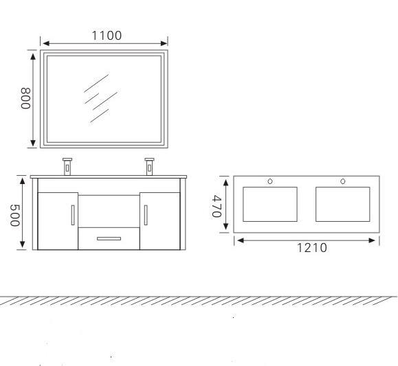 Meuble de salle de bains sanifun mira 121 ebay for Vendeur de meuble de salle de bain