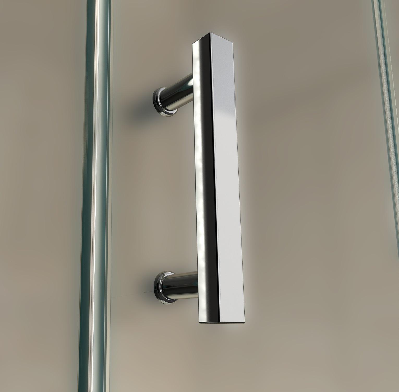 Cabine de douche sanifun alberta r 120 x 90 z verre d poli - Cabine douche rectangulaire 120 x 90 ...
